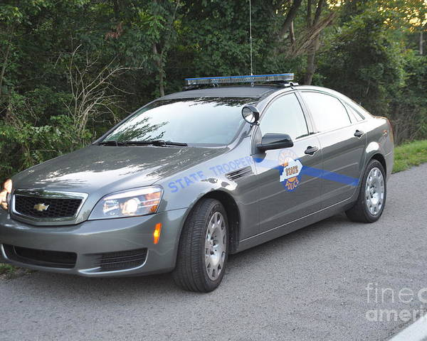 Kentucky State Police Cruiser Poster featuring the photograph Ksp Cruiser by Steven Townsend