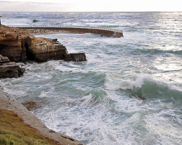 Ocean Poster featuring the photograph La Jolla Ca by Gandz Photography
