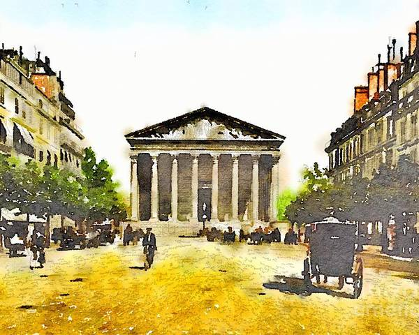 Madeleine Poster featuring the painting La Madeleine 1890 by HELGE Art Gallery