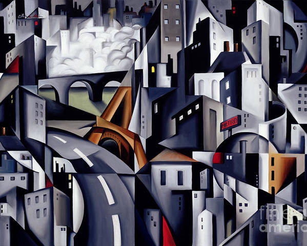 Rive Poster featuring the painting La Rive Gauche by Catherine Abel