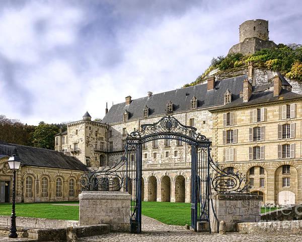 France Poster featuring the photograph La Roche Guyon Castle by Olivier Le Queinec