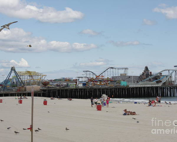 Casino Pier Poster featuring the photograph Labor Day At The Pier by Laura Wroblewski