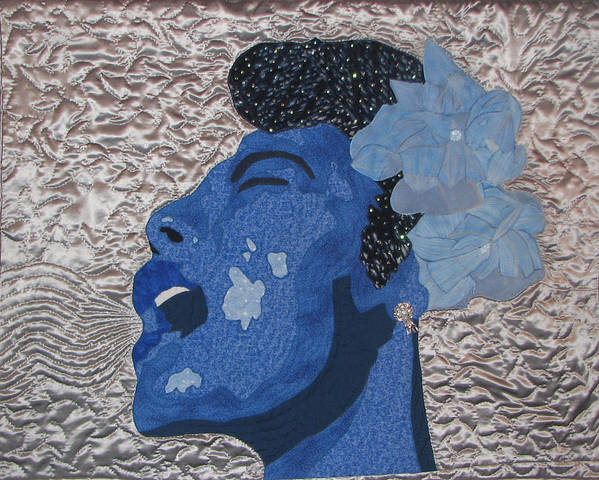 Lady Sings Poster featuring the tapestry - textile Lady Sings by Aisha Lumumba