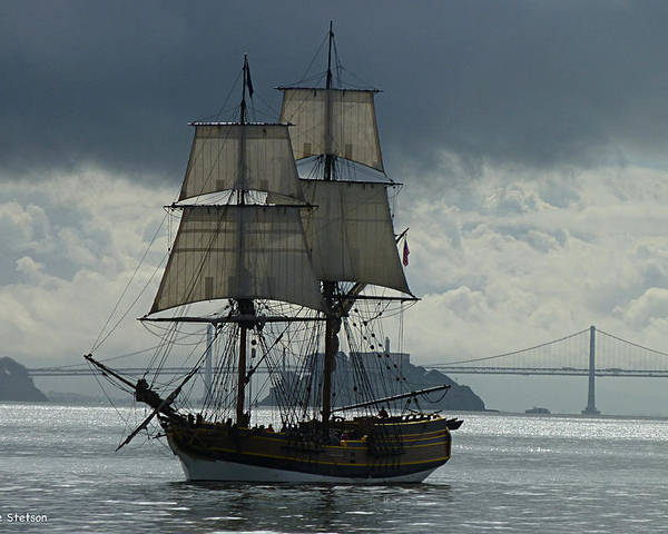 Tall Ship Poster featuring the photograph Lady Washington by Sabine Stetson