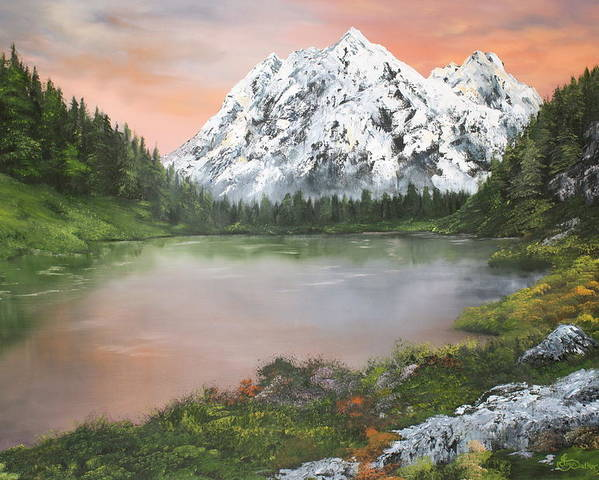 Austria Lakes Poster featuring the painting Lake In Austria by Jean Walker