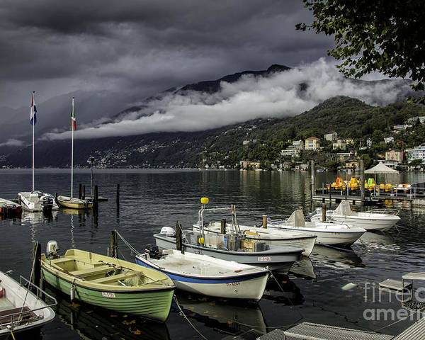 Building Poster featuring the photograph Lake Maggiore Ascona by Timothy Hacker