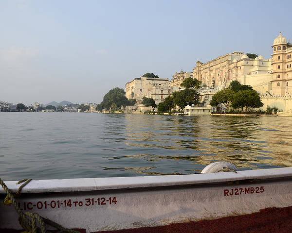 Poster featuring the photograph Lake Pichola by Virginie Vanos