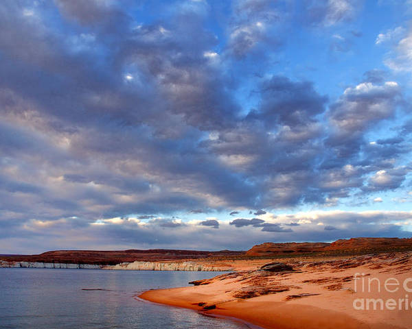 Lake Powell Poster featuring the photograph Lake Powell Morning by Thomas R Fletcher