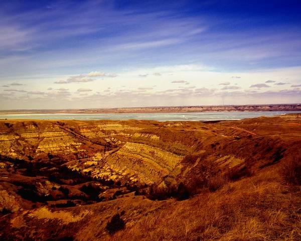 Water Poster featuring the photograph Lake Sakakawea North Dakota by Jeff Swan
