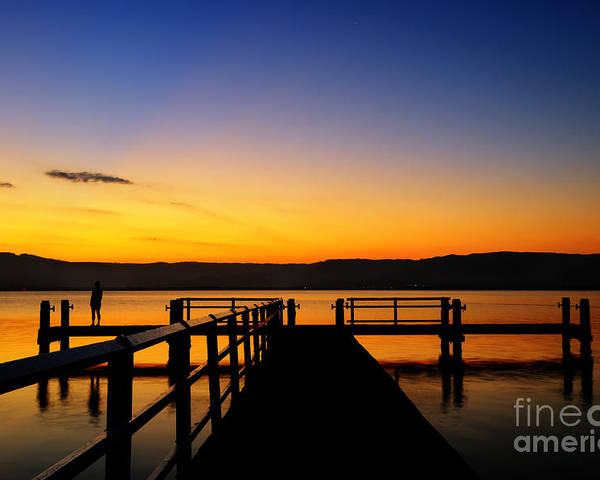 Sunset Poster featuring the photograph Lake Sunset by Colin Woods