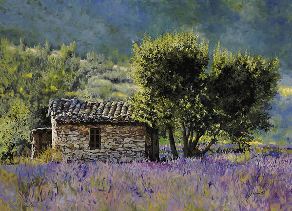 Lavender Poster featuring the painting Lala Vanda by Guido Borelli