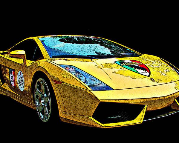 Lamborghini Gallardo 3 4 Front View Poster By Samuel Sheats