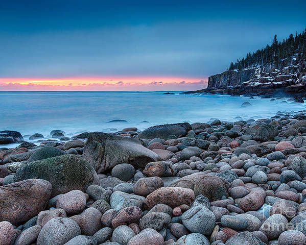 Acadia Poster featuring the photograph Land Of Sunrise by Evelina Kremsdorf