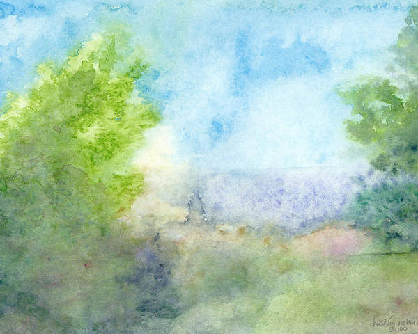 Landscape Poster featuring the painting Landscape 4 by Ingela Christina Rahm