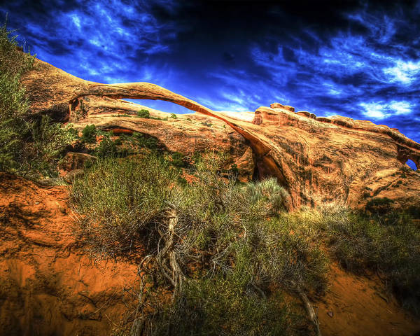 Arches National Park Poster featuring the photograph Landscape Arch by Fred Adsit