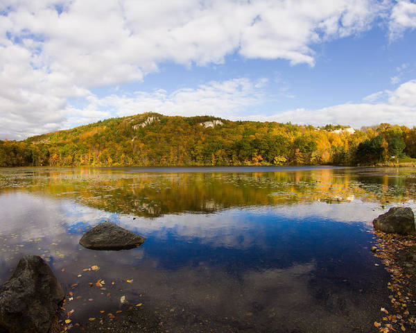 Lantern Hill Pond Poster featuring the photograph Lantern Hill Pond - North Stonington CT by Kirkodd Photography Of New England