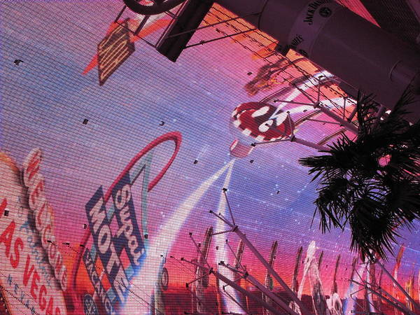 Las Poster featuring the photograph Las Vegas - Fremont Street Experience - 121212 by DC Photographer