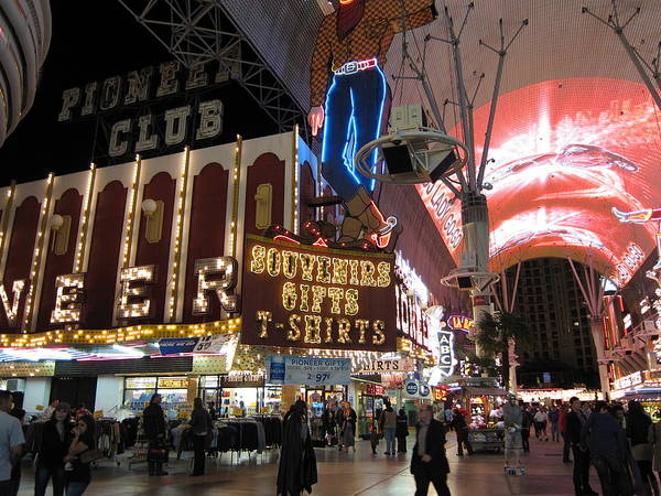 Las Poster featuring the photograph Las Vegas - Fremont Street Experience - 12127 by DC Photographer