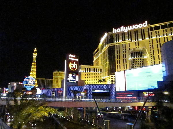 Las Poster featuring the photograph Las Vegas - Planet Hollywood Casino - 12124 by DC Photographer