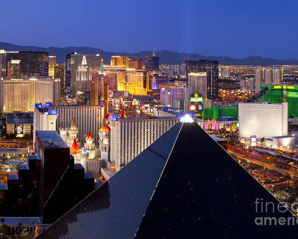 America Poster featuring the photograph Las Vegas Skyline by Brian Jannsen