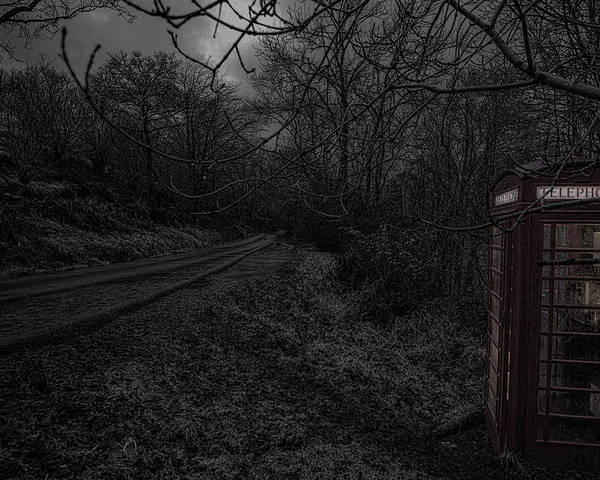 Phone Booth Poster featuring the photograph Last Chance For Contact by Jason Lanier
