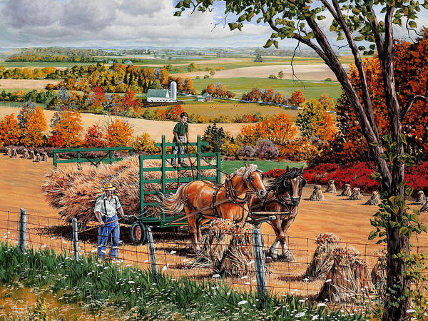 Harvest Poster featuring the painting Late Harvest by Roger Witmer