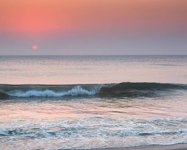 Beach Poster featuring the photograph Late Summer Sunrise by Bill Wakeley