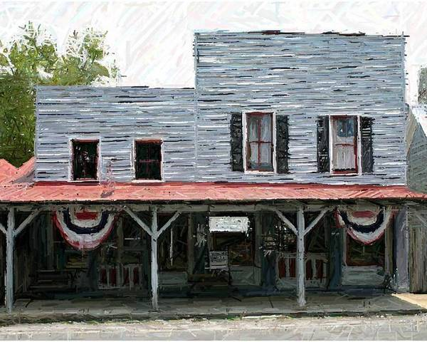Merchants' Row Poster featuring the photograph Latimore's Store - Perryville Ky by Thia Stover
