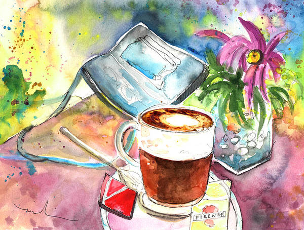 Impressionism Poster featuring the painting Latte Macchiato In Italy 01 by Miki De Goodaboom