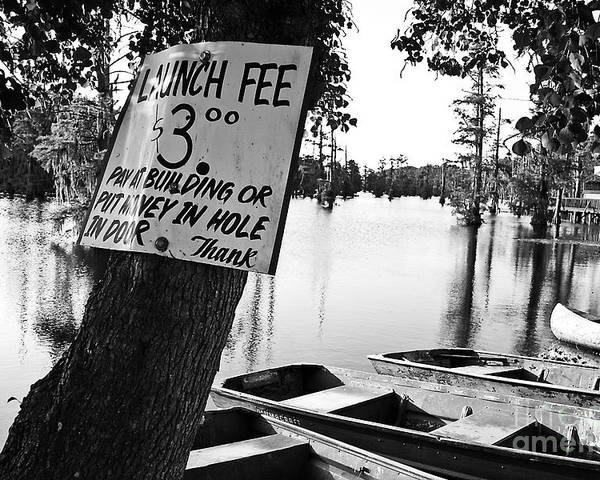 Black & White Poster featuring the photograph Launch Fee by Scott Pellegrin