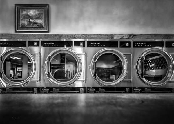 Abstract Poster featuring the photograph Laundromat Art by Bob Orsillo