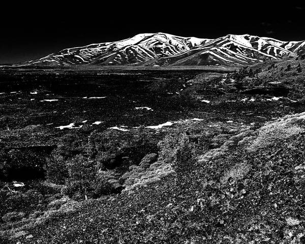 Craters Poster featuring the photograph Lavascape by Benjamin Yeager