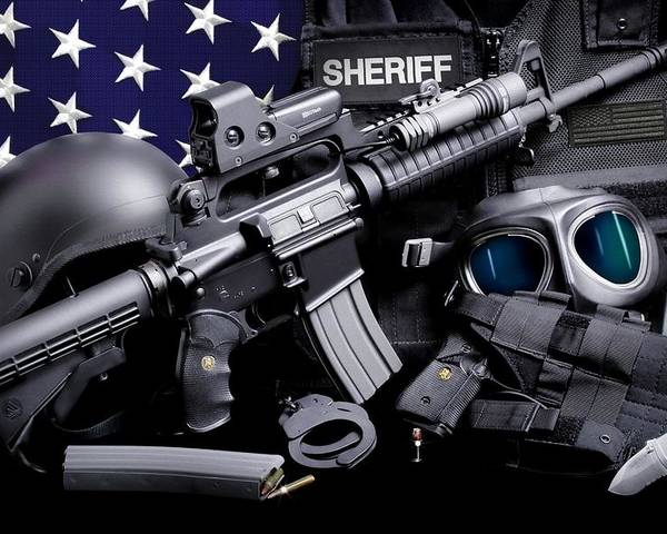 Law Enforcement Poster featuring the photograph Law Enforcement Tactical Sheriff by Gary Yost