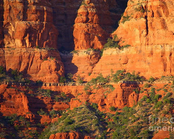 Red Rocks Poster featuring the photograph Layers Of Red Rock by Carol Groenen