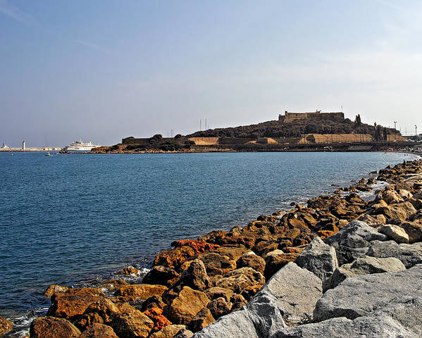 Fort Poster featuring the photograph Le Fort Carre - Antibes - France by Christine Till