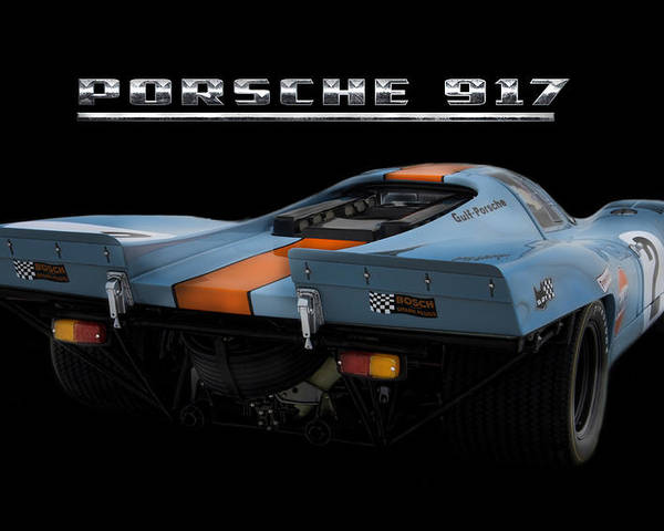 Porsche 917 Poster featuring the digital art Le Mans King 2 by Peter Chilelli