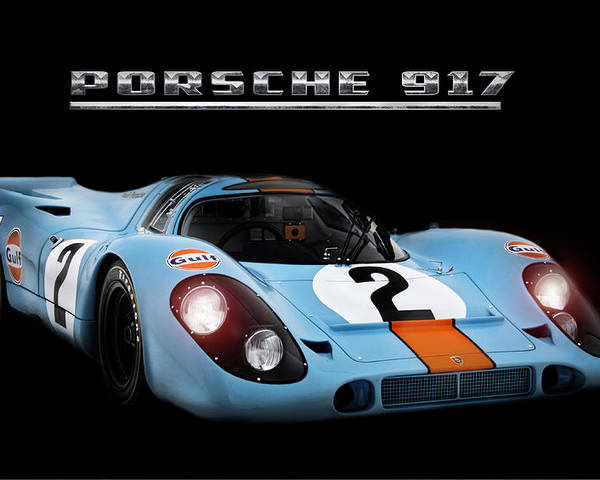 Porsche 917 Poster featuring the digital art Le Mans King by Peter Chilelli