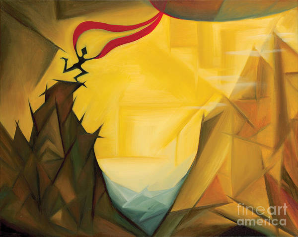 Art Poster featuring the painting Leap Of Faith by Tiffany Davis-Rustam