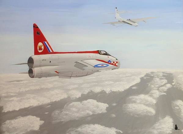 Royal Poster featuring the painting Learning To Refuel by Jonathan Laverick