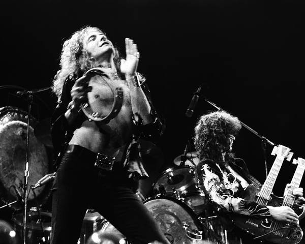 Led Zeppelin Poster featuring the photograph Led Zeppelin Live 1975 by Chris Walter