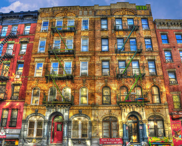 Led Zeppelin Physical Graffiti Building In Color Poster By