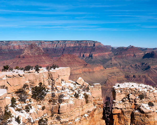 Grand Canyon Poster featuring the photograph Ledge At Grand Canyon by Joe Belanger