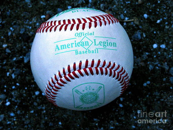 Baseball Poster featuring the photograph Legion Baseball by Colleen Kammerer