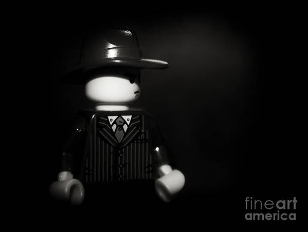 Film Noir Poster featuring the photograph Lego Film Noir 1 by Cinema Photography