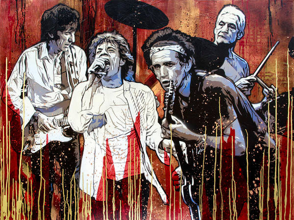 The Rolling Stones Poster featuring the painting Let It Bleed by Bobby Zeik
