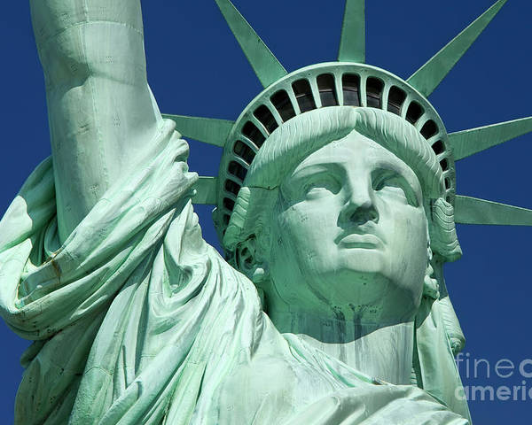 Statue Poster featuring the photograph Liberty by Brian Jannsen