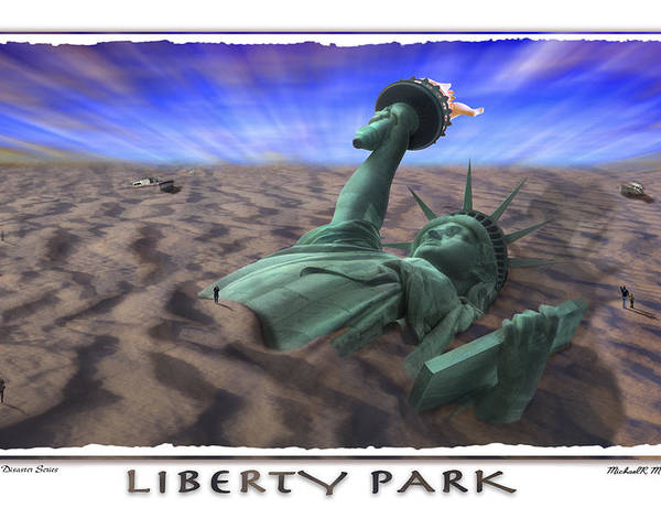 Pop Art Poster featuring the photograph Liberty Park by Mike McGlothlen