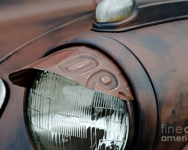 Headlight Eyebrow Cover Poster featuring the photograph License Tag Eyebrow Headlight Cover by Wilma Birdwell