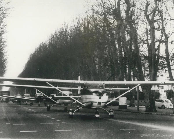retro Images Archive Poster featuring the photograph Light Aircraft In March Past by Retro Images Archive