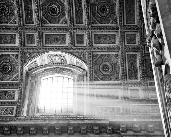 Light Poster featuring the photograph Light Beams In St. Peter's Basillica by Susan Schmitz